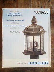 NEW Kichler Brunswick Collection 3-light Olde Bronze Post Top Mount Lantern