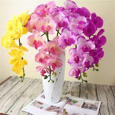 Orquídea Artificial Falso Phalaenopsis Látex silicio Flor Interior Al Aire Libre Boda