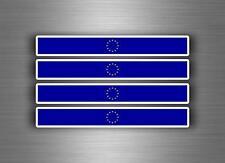 4x sticker adesivi adesivo vinyl auto moto tuning bandiera bomb europa unione