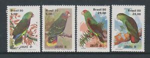 Brazil - 1980, Lubrapex '80 Exhibition, Parrots, Birds set - MNH - SG 1866/9