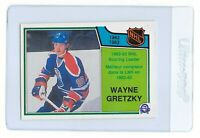 WAYNE GRETZKY 1983 O-PEE-CHEE OPC NHL Hockey CARD #217 Edmonton OILERS Scoring