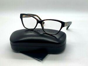 Authentic Coach Eyeglasses HC 6088 5394 DARK TORTOISE/GOLD SIG C 54-15-135MM