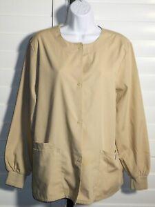 Cherokee Khaki Nurses Uniform Scrub Jacket Size S NWOT