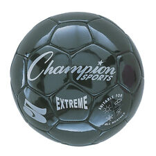 Champion Sports Extreme Soccer Ball, Size 5, Black