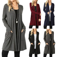 Plus Size Women's Cardigan Duster Long Sweater Long Sleeve Coat Jacket 5XL