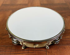 Tambourine/Pandereta-10†� Synthetic Head With Double Row Of Jingles, Tunable.