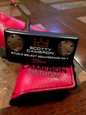 LH Scotty Cameron Studio Select Squareback #1 33in 20g Left Hand Custom