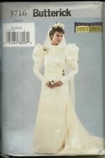 Butterick 3716 Victorian Wedding Gown Pattern 12-16