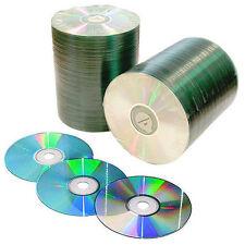 100 CD-R Mediastar Official Shiny Top  Silver Green Dye