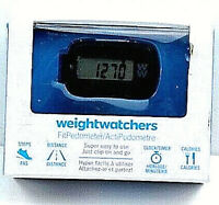 Weight Watchers Fit Pedometer Calculates Steps Distance Clock Timer Calories New