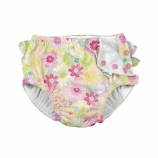 Girls' Ruffle Snap Reusable Absorbent Swimsuit Diaper 100%Polyester High quality