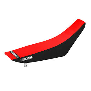 Honda CRF 150F 150 F Seat Cover 2003 - 2019 BLACK SIDES / RED TOP GRIPPER