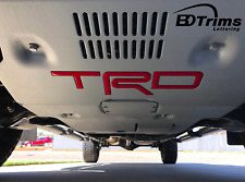 Red Domed 3D Letters fits Trd Skid Plate Tacoma 2016-2020 - 4Runner 2019-2020 (Fits: Toyota)