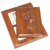 Caja de bloqueo Cuadrado de Madera Penganga secreto Jalio Talla Floral joyería de recuerdo