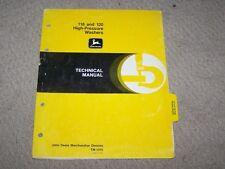 John Deere Used 118 & 120 High Pressure Washer Tech Manual Tm-1315 B8