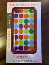 Fashionation: Apple Ipod Touch 5 Slim Snap Case / Rainbow Gumball / Macbeth New!