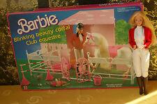 Vintage Barbie Blinking Beauty Corral Mattel 1987 / Pferde Stall + OVP + Doll