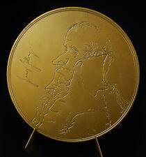 Médaille signée Ronald SEARLE James Gillray caricaturiste britannique 86mm medal