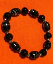 beads on stretch cord handmade Men beaded bracelet with beautiful glass