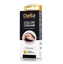 Delia Cosmetics Henna Color Cream pour Sourcils - Noir (Pack de 3)