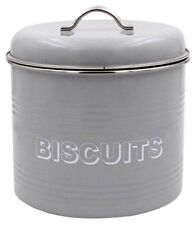NEW LESSER & PAVEY BISCUIT TIN METAL GREY SWEET HOME 18 X 18 X 20 CM WITH LID