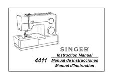 Singer 4411 Sewing Machine/Embroidery/Serger Owners Manual Reprint