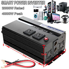 Car Inverter 2000W/4000WATT DC 12V to 110V AC Converter with 4 USB Car Charger