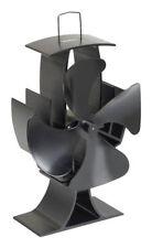VonHaus 14079 Heat Powered Wood Stove Fan - Black