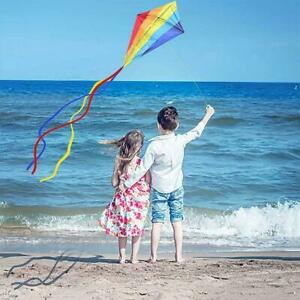 Large Rainbow Kites Easy To Assemble Launch Fly-Best For Outdoor Beach Kite P6P7