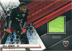 2021 Topps MLS Soccer BILL HAMID Match Used Jersey Patch Relic DC UNITED