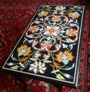 4'x2' Elegant Marble Furniture Table Marquetry Inlay Garden Outdoor Decor E843A