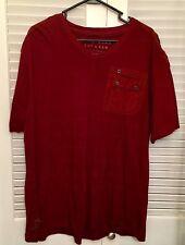 Marc Ecko Size XXL Dark Red  V Neck T Shirt