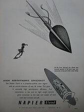 1/1955 PUB NAPIER ELAND PROPELLER TURBINE AERO ENGINE SAGAIE LANCE ORIGINAL AD