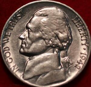 Uncirculated 1942-D Denver Mint Jefferson Nickel