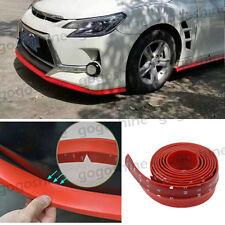 "Car Front Bumper Lip Splitter Body Spoiler Valance Chin Protector Red 100"" Set"