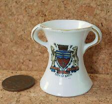 Crested china miniature vase CITY OF BATH SPA Latin motto FESTINA LENTE