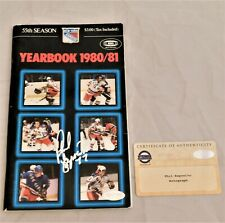 Phil Esposito Signed / Autographed 1980-81 Rangers Yearbook Steiner Coa