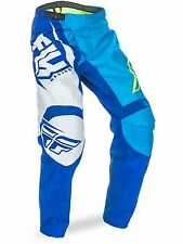 PANTALONE CROSS OFF ROAD ENDURO FLY RACING  F-16 BLU GIALLO TAGLIA 46