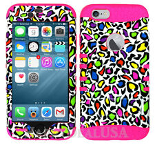 For Apple iPhone 7 & 7 Plus KoolKase Hybrid Silicone Cover Case - Leopard Color