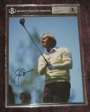 JACK NICKLAUS Signed 8 X 10 PHOTO Beckett Authenticated Encapsulated & GRADED 10