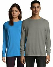 Hanes Adult Long Sleeve T Shirt Tee ComfortWash Garment Dyed Ring Spun Cotton