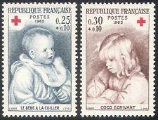 France 1965 Red Cross Fund/Medical/Health/Renoir/Art/Children 2v set (n20397)