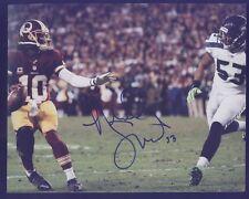 Seahawk Malcolm Smith Super Bowl MVP vs Redskins Autograph A Blue Pen