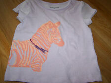 Infant Girls Size 24 Months Zebra Horse T Shirt Top Purple Glitter Sparkle New
