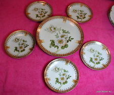 CS Prussia Carl Schlegelmilch (Hand Painted Floral) SIX PLATE SET Exc