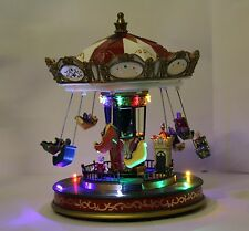 "Christmas Decoration 11"" LED Xmas Musical Rotating Ferris Wheel / Swing Carousel"