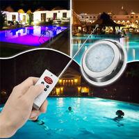 54W Bright 7 Colour Swimming Pool RGB LED Light Spa Lamp + Remote     F