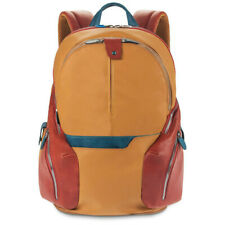 Man backpack rucksack Piquadro Coleos CA2943OS/G in yellow leather and for pc