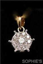 Diamond Cluster Yellow Gold Fine Necklaces & Pendants