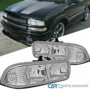 98-04 Chevy S10 Blazer Pickup Euro Clear Headlights Head Lamps Replacement Pair